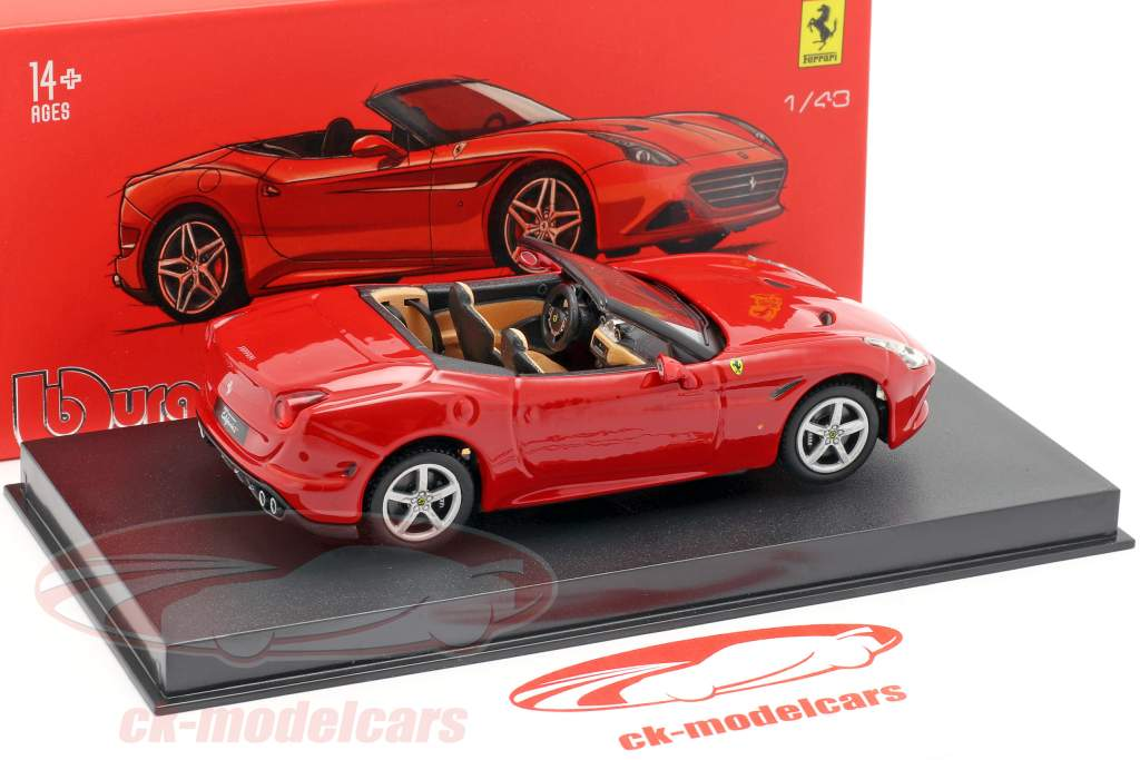 Ferrari California T open Top vermelho 1:43 Bburago Signature