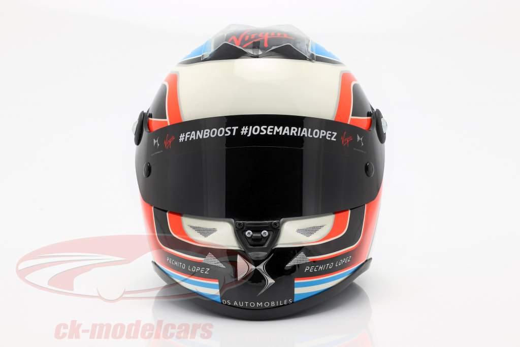 Jose Maria Lopez DS Virgin Racing formule e 2016 casque 1:2 Schuberth