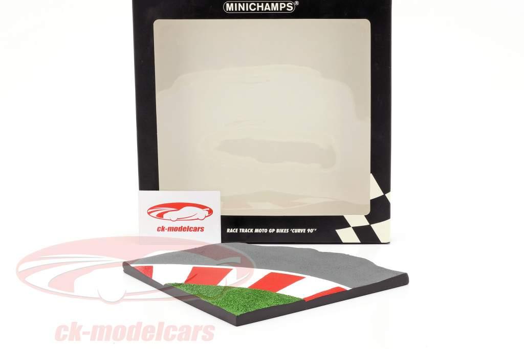 Race Track Moto GP Bikes Curva 90 90 gradi 1:12 Minichamps