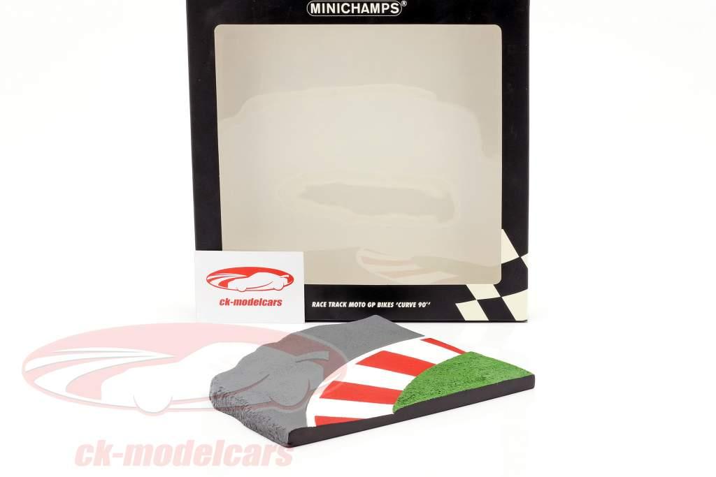 Racetrack Moto GP cykler 90 graders kurve 1:12 Minichamps