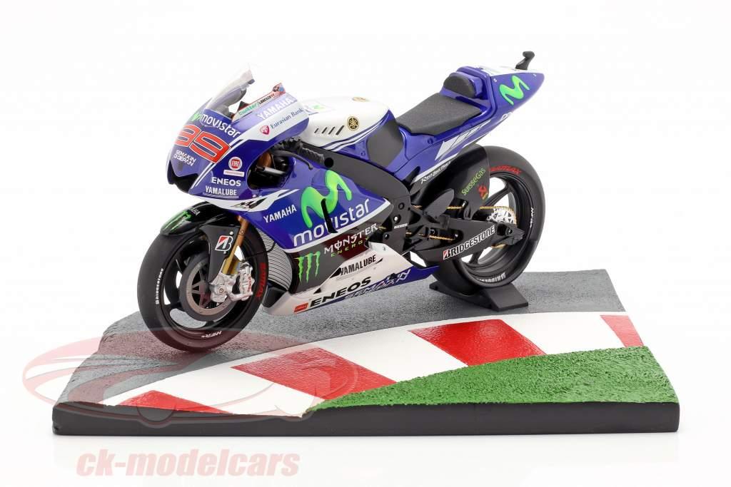 Autódromo de Moto GP bikes 90 graus curva 1:12 Minichamps