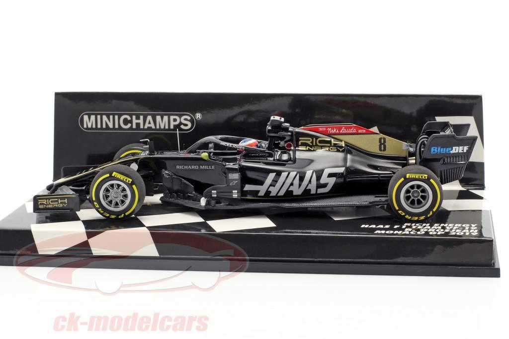 Romain Grosjean Haas VF-19 #8 Monaco GP fórmula 1 2019 1:43 Minichamps