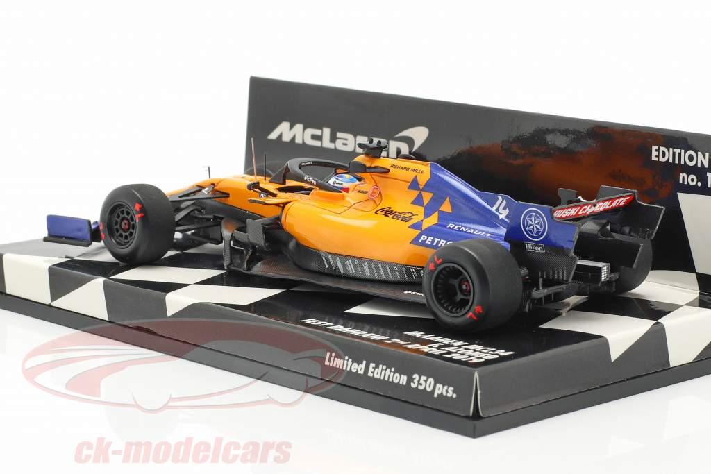 Fernando Alonso McLaren MCL34 #14 test Bahrain F1 2019 1:43 Minichamps