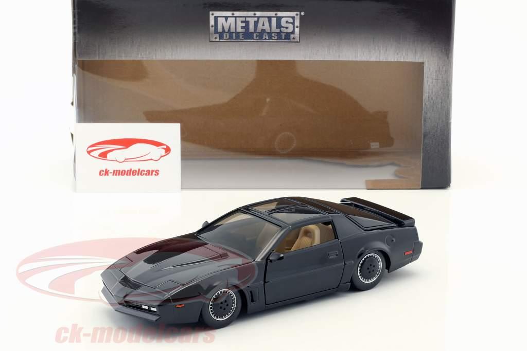 Pontiac Firebird K.I.T.T. tv-serie Knight Rider (1982-1986) zwart 1:24 Jada Toys