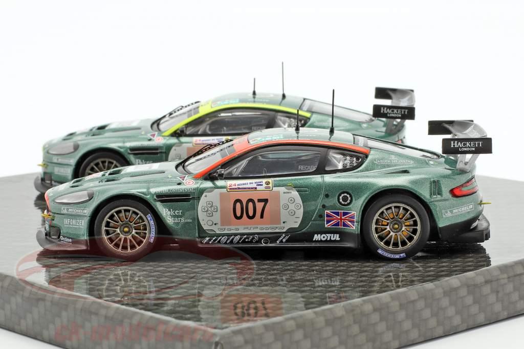 2-Car Set Aston Martin DBR9 #007 & #009 24h LeMans 2006 1:43 Ixo