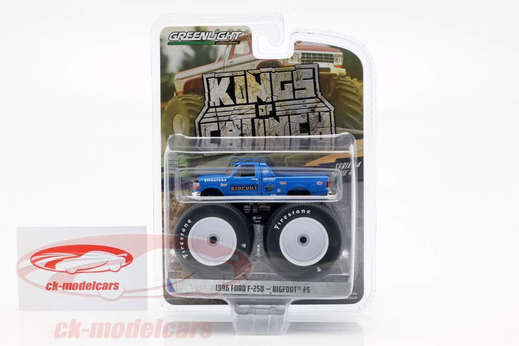 Ford F-250 Monster Truck Bigfoot #5 year 1996 blue 1:64 Greenlight