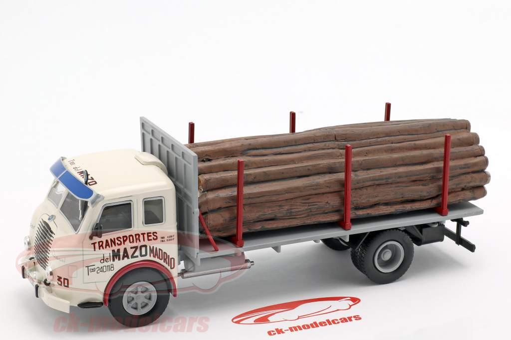 Pegaso Ii Z-202 Diesel Forestal vrachtwagen Bouwjaar 1956 wit / grijs 1:43 Altaya