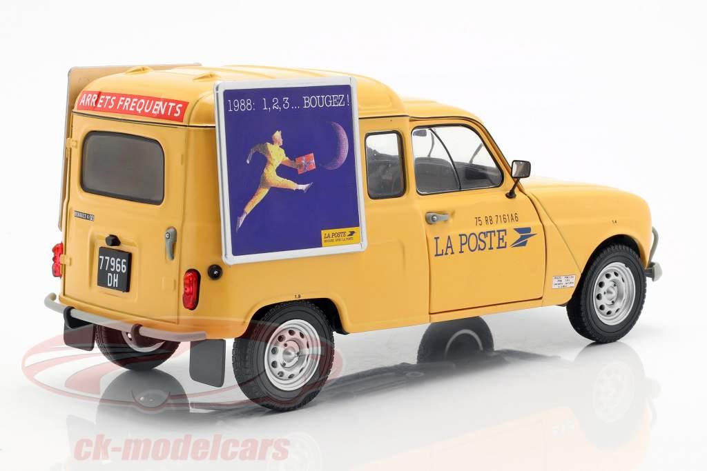 Renault 4LF4 La Poste year 1988 yellow 1:18 Solido