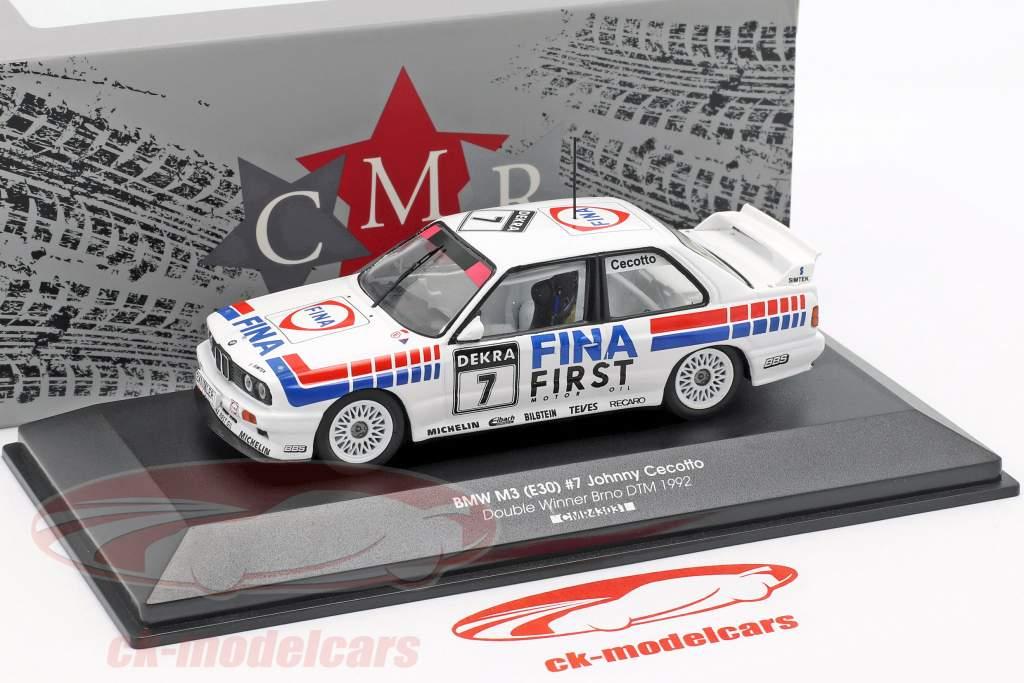 BMW M3 (E30) #7 Vainqueur Double Brno DTM 1992 Johnny Cecotto 1:43 CMR