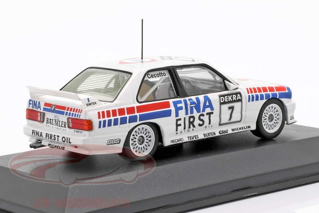 BMW M3 (E30) #7 Dobbelt Vinder Brno DTM 1992 Johnny Cecotto 1:43 CMR