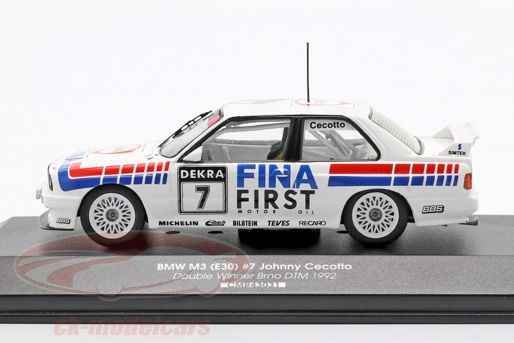 BMW M3 (E30) #7 Double Winner Brno DTM 1992 Johnny Cecotto 1:43 CMR