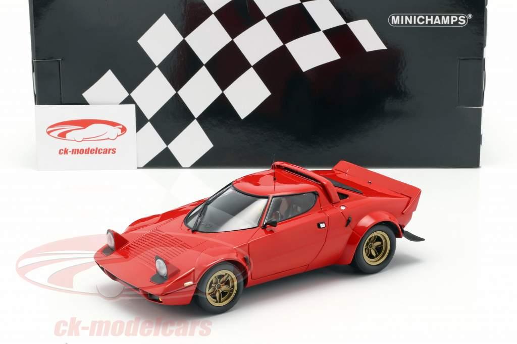 Lancia Stratos Bouwjaar 1974 rood 1:18 Minichamps