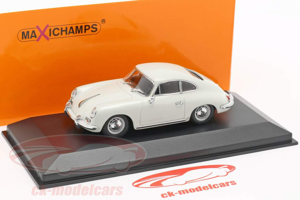 Porsche 356 B coupe Bouwjaar 1961 grijs 1:43 Minichamps