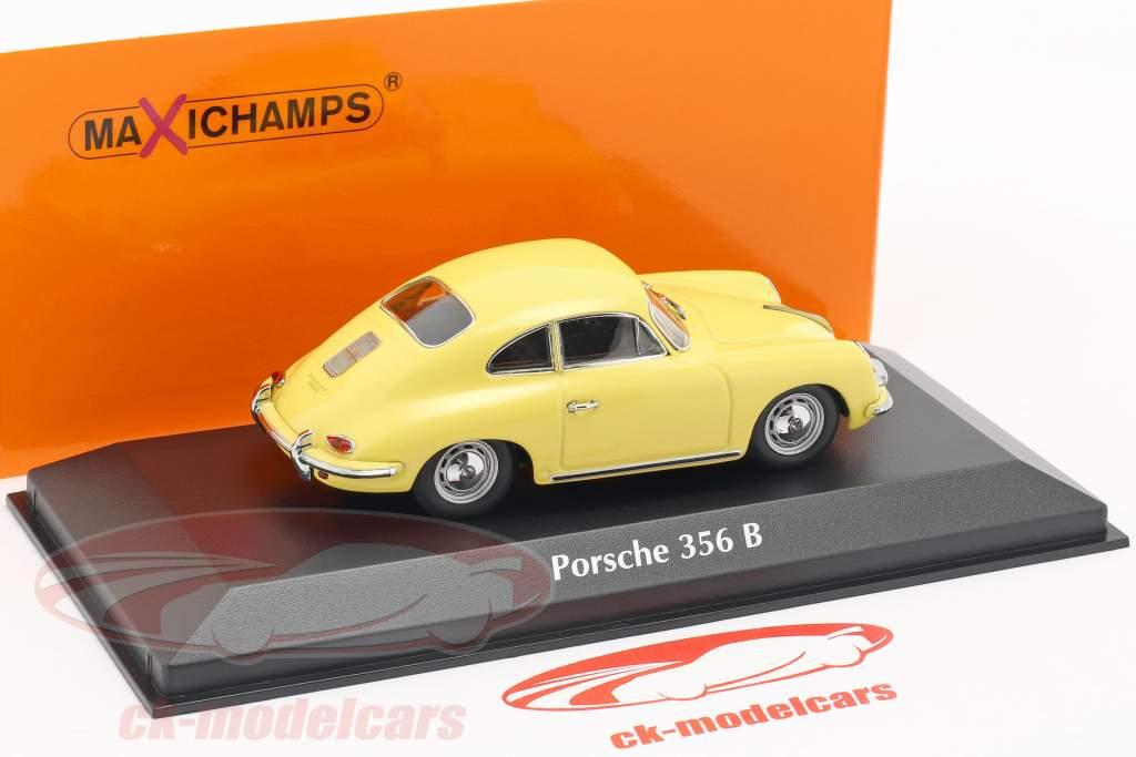 Porsche 356 B coupe anno di costruzione 1961 giallo 1:43 Minichamps
