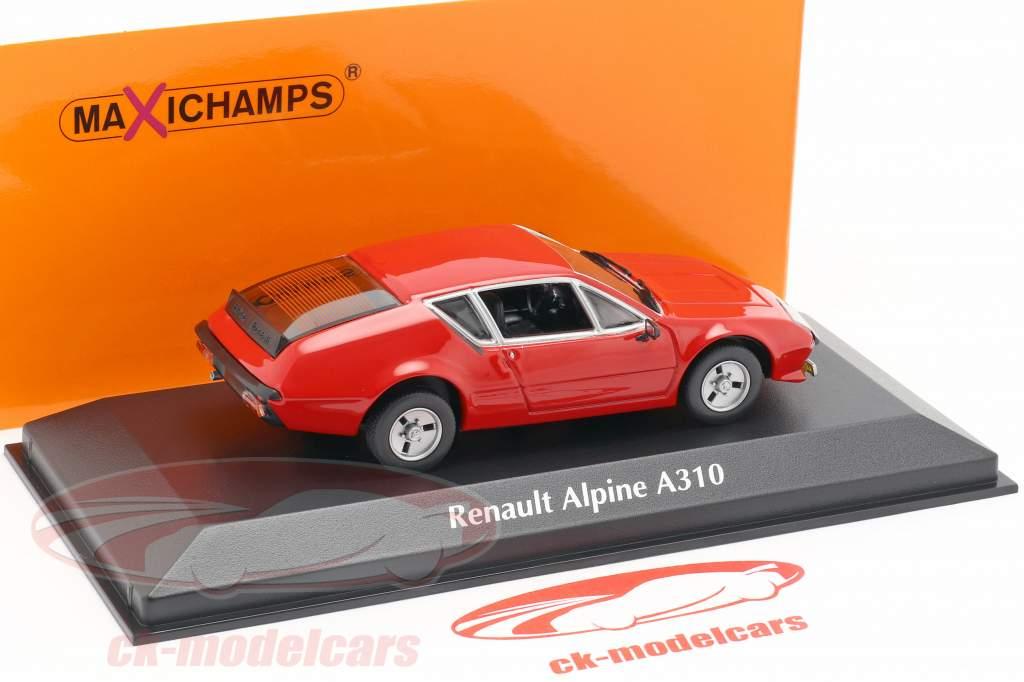 Renault Alpine A310 Baujahr 1976 rot 1:43 Minichamps