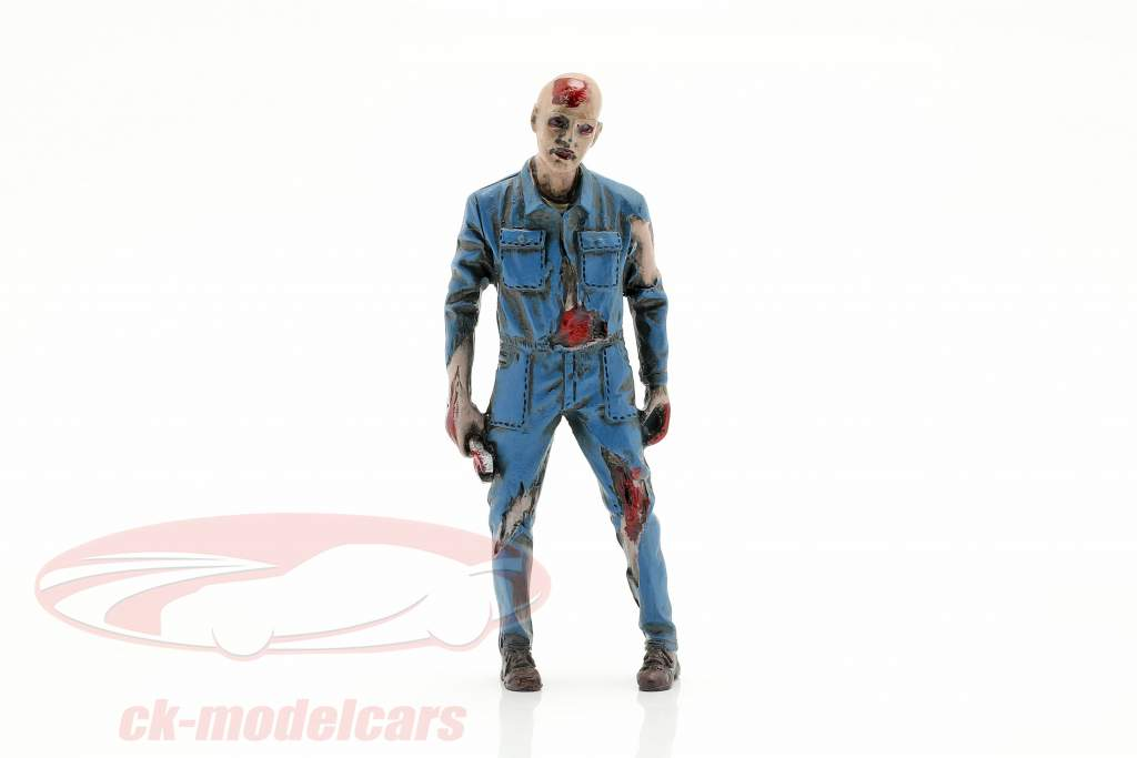 Zombie monteur I figuur 1:18 American Diorama
