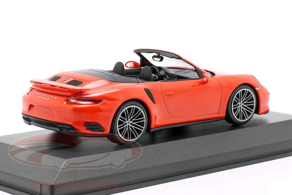 Porsche 911 (991 II) Turbo S cabriolé año de construcción 2016 lava naranja 1:43 Minichamps