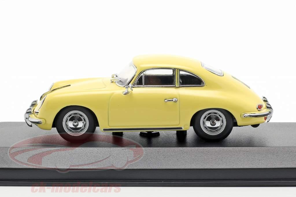 Porsche 356 B coupe Bouwjaar 1961 geel 1:43 Minichamps