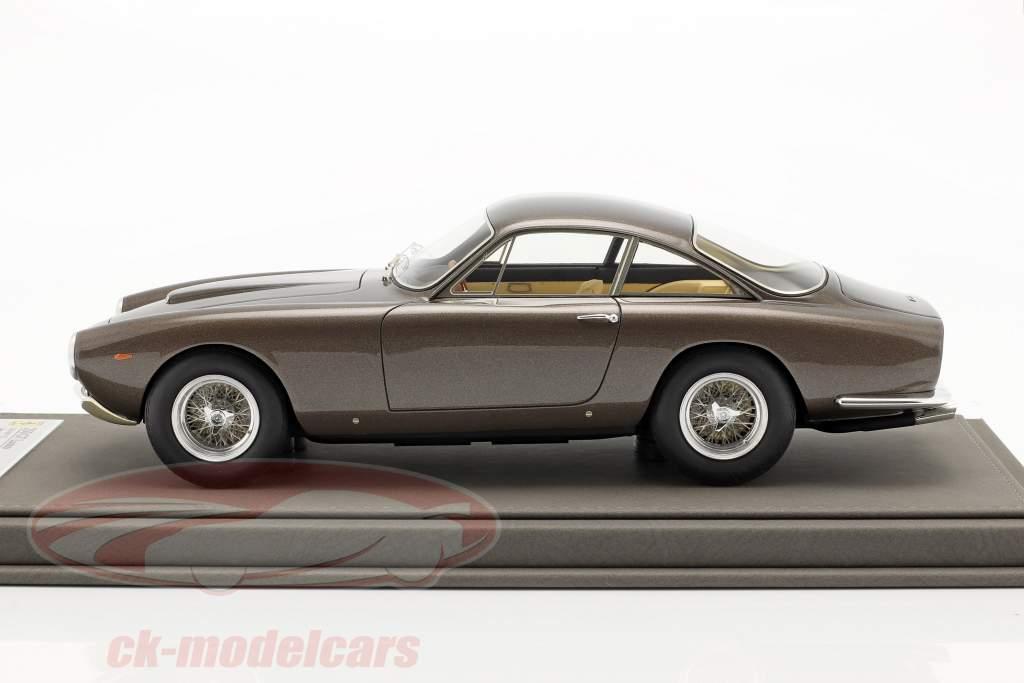 Ferrari 250 GT Lusso coupe Steve McQueen grijs bruin metalen 1:18 BBR