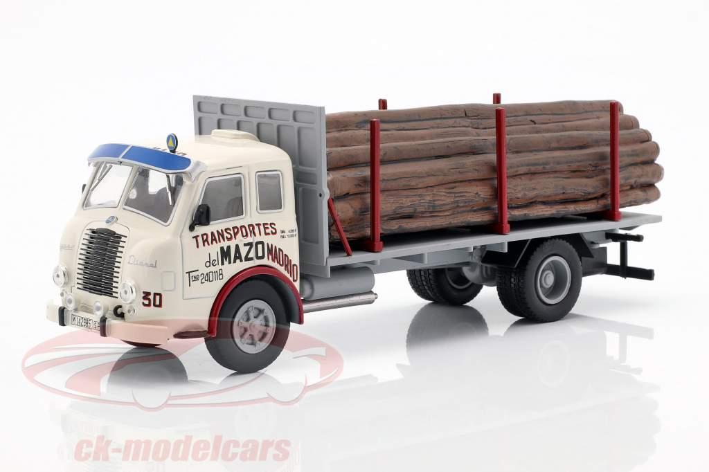 Pegaso Ii Z-202 Diesel Forestal lastbil Opførselsår 1956 hvid / grå 1:43 Altaya