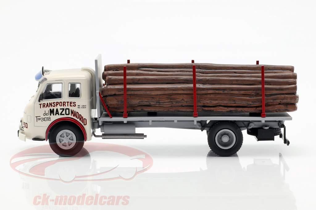 Pegaso Ii Z-202 Diesel Holztransporter Baujahr 1956 weiß / grau 1:43 Altaya