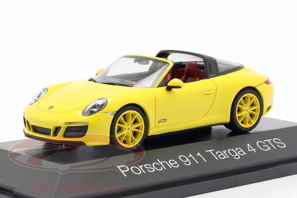 Porsche 911 (991 II) Targa 4 GTS año de construcción 2016 racing amarillo 1:43 Herpa