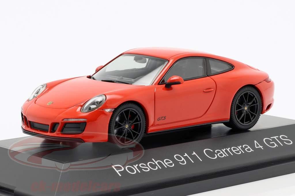 Porsche 911 (991 II) Carrera 4 GTS Bouwjaar 2017 lava oranje 1:43 Herpa