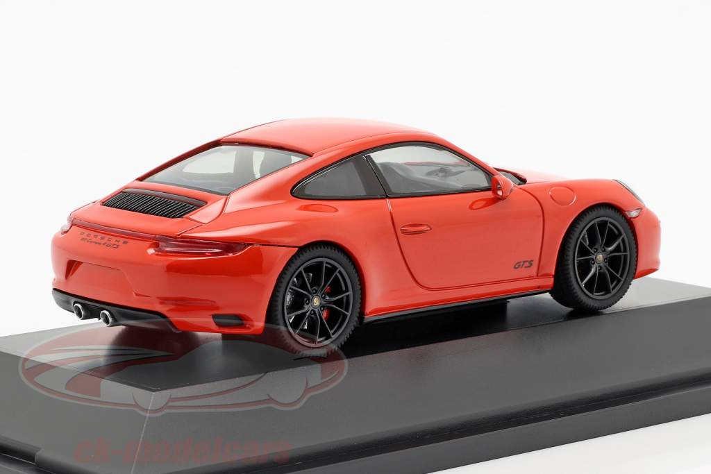 Porsche 911 (991 II) Carrera 4 GTS year 2017 lava orange 1:43 Herpa