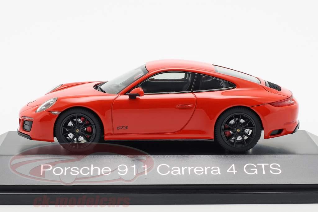 Porsche 911 (991 II) Carrera 4 GTS año de construcción 2017 lava naranja 1:43 Herpa