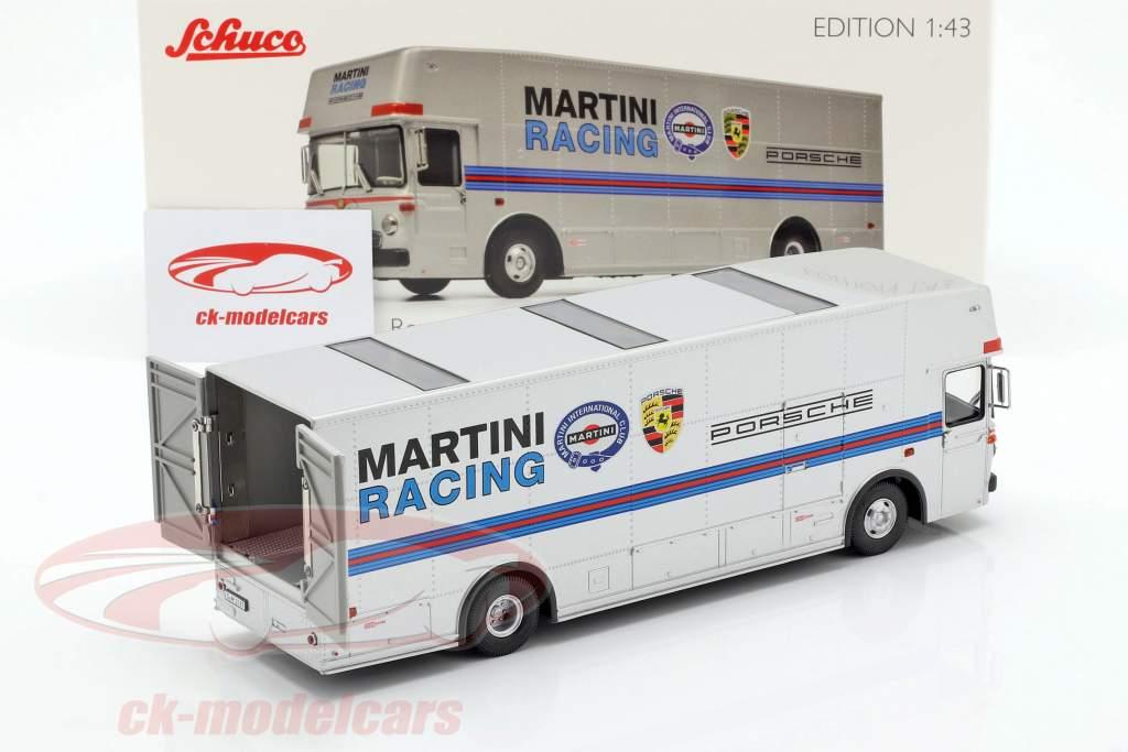 Mercedes-Benz O 317 raza camión Porsche Martini Racing plata 1:43 Schuco