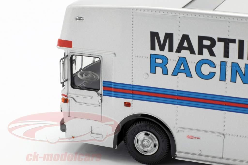 Mercedes-Benz O 317 løb lastbil Porsche Martini Racing sølv 1:43 Schuco