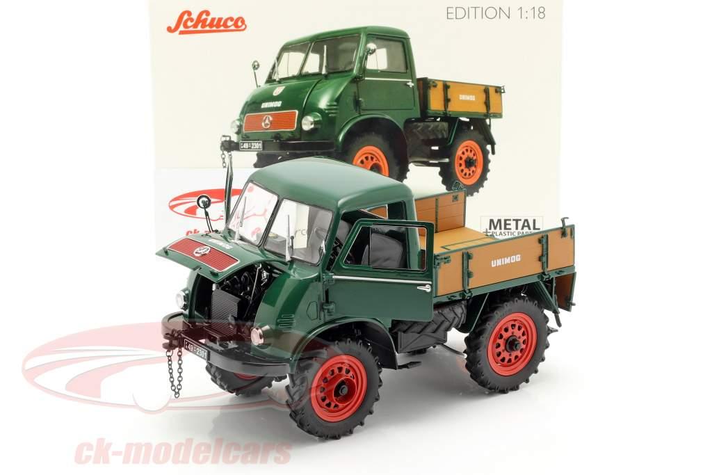 Mercedes-Benz Unimog 401 año de construcción 1953-56 verde 1:18 Schuco