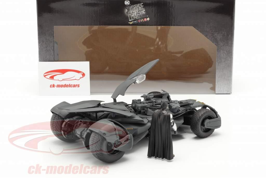 Batmobile avec Batman figure film Justice League (2017) gris 1:24 Jada Toys