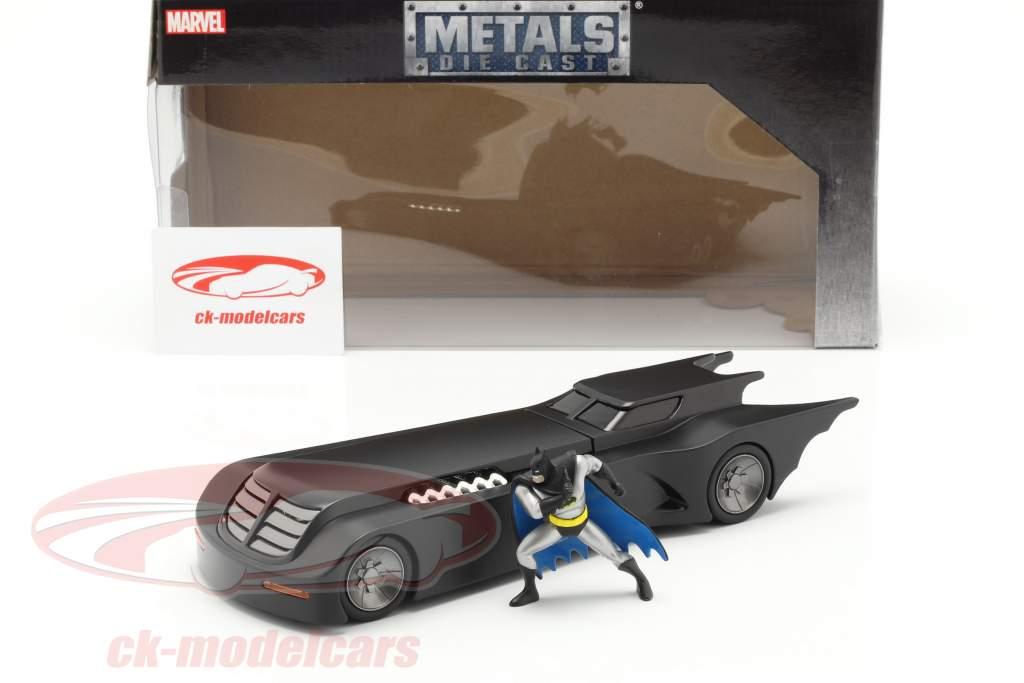 Batmobile & Batman figuur Animated Series zwart 1:24 Jada Toys