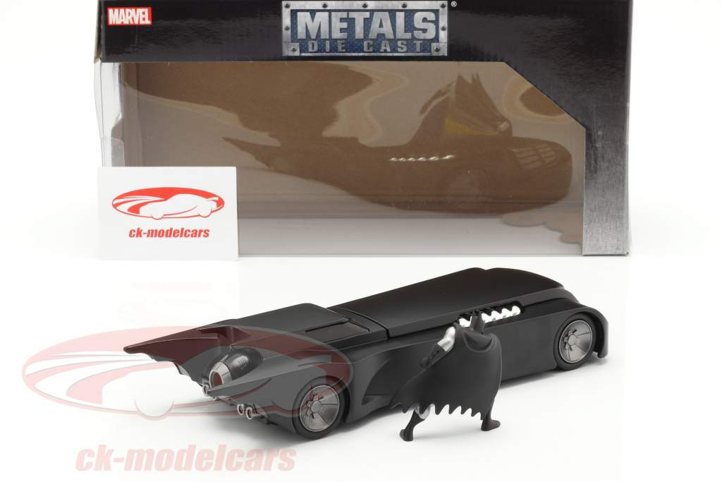 Batmobile & Batman figur Animated Series sort 1:24 Jada Toys