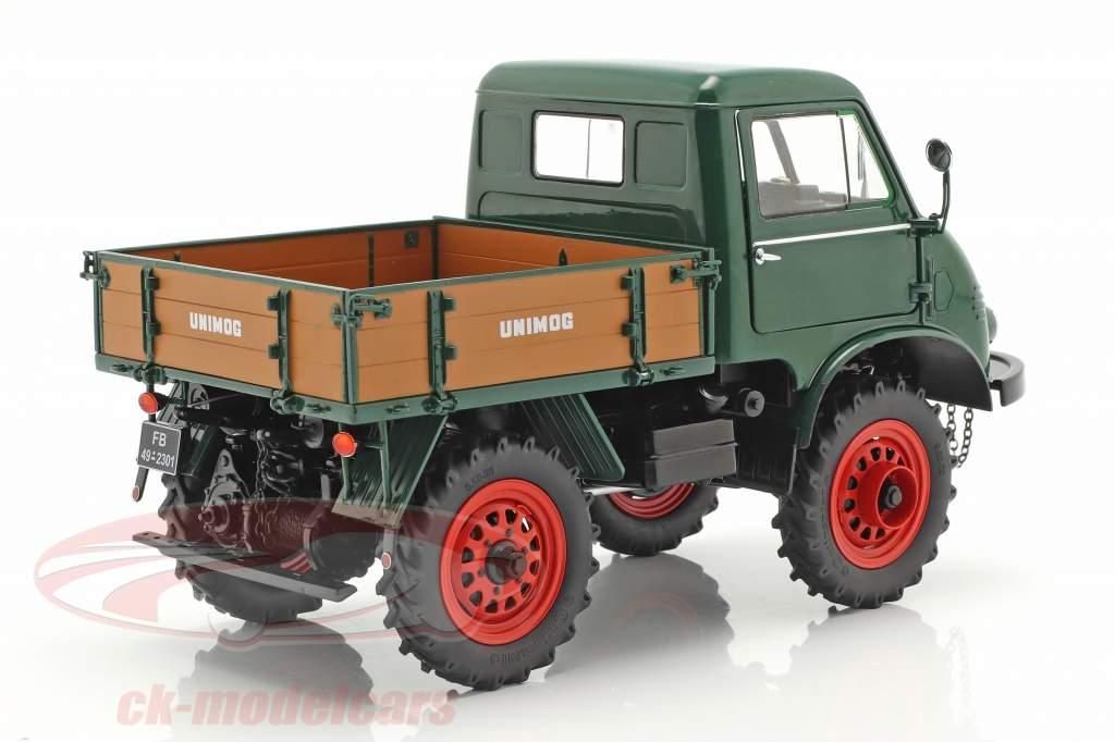 Mercedes-Benz Unimog 401 Opførselsår 1953-56 grøn 1:18 Schuco