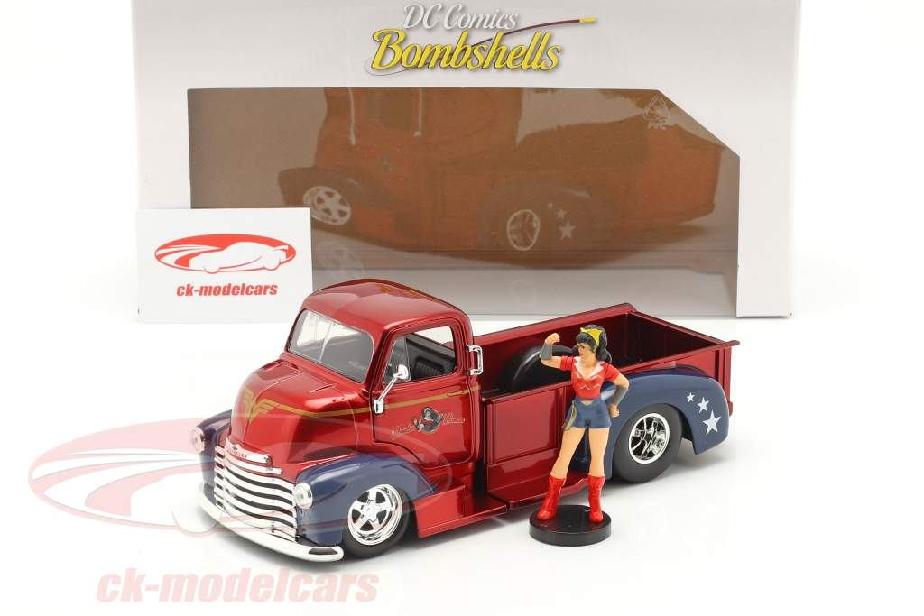 Chevy Coe Pick-Up 1952 with figure Wonder Woman DC Comics 1:24 Jada Toys