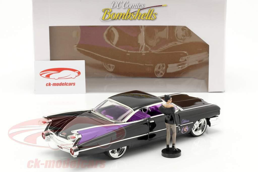 Cadillac Coupe DeVille 1959 avec figure Catwoman DC Comics 1:24 Jada Toys