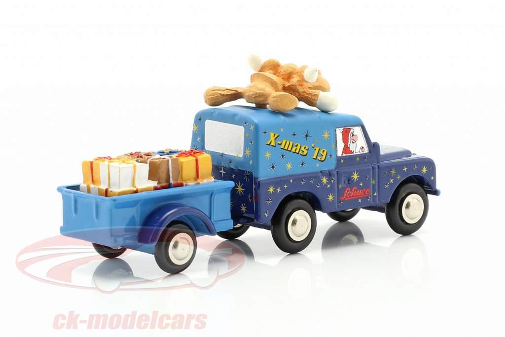 Land Rover med trailer Christmas Edition 2019 1:90 Schuco Piccolo