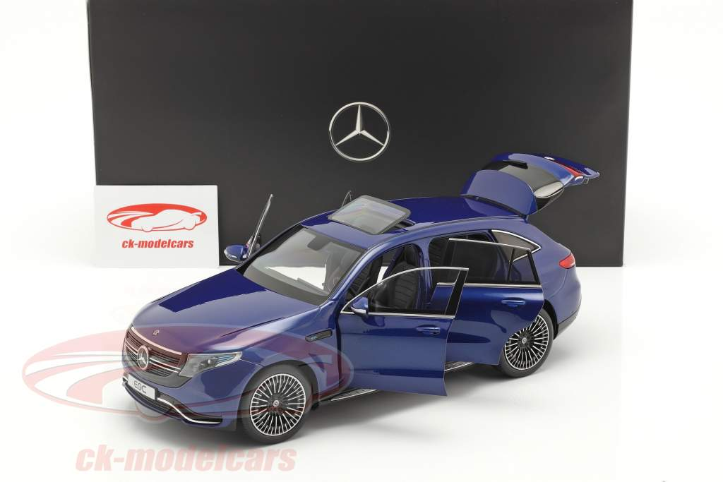 Mercedes-Benz EQC 4Matic (N293)  año de construcción 2019 brillante azul 1:18 NZG