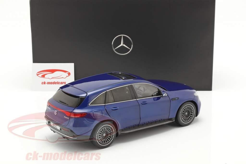 Mercedes-Benz EQC 4Matic (N293)  Opførselsår 2019 strålende blå 1:18 NZG