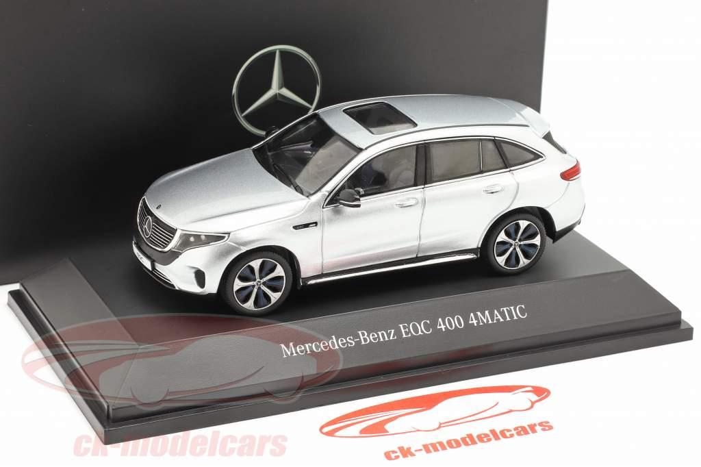 Mercedes-Benz EQC 4Matic (N293) Opførselsår 2019 højteknologiske sølv 1:43 Spark