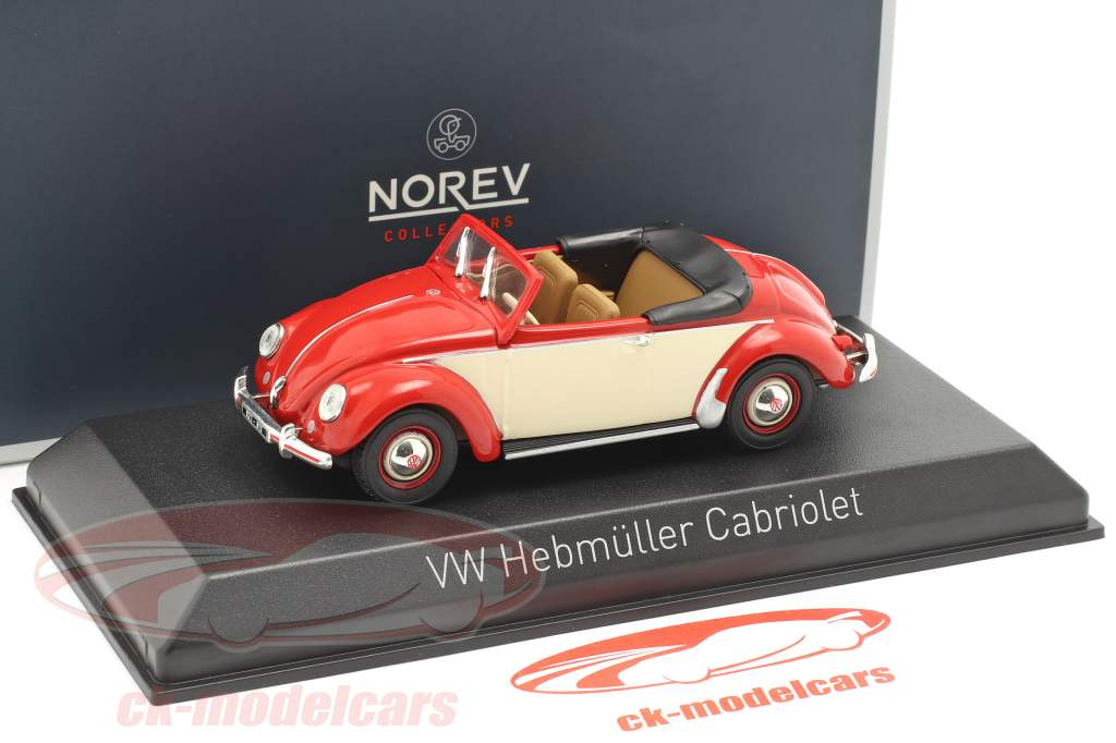 Volkswagen VW Hebmüller Cabriolet year 1949 red / cream White 1:43 Norev