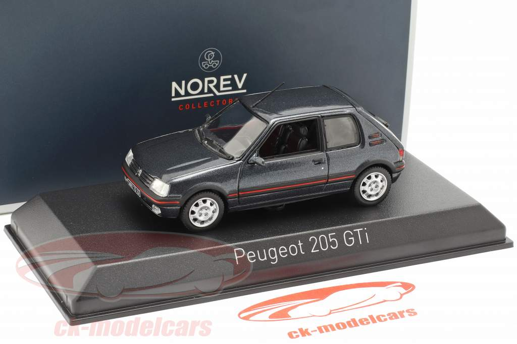 Peugeot 205 GTi 1,9 year 1992 dark gray metallic 1:43 Norev
