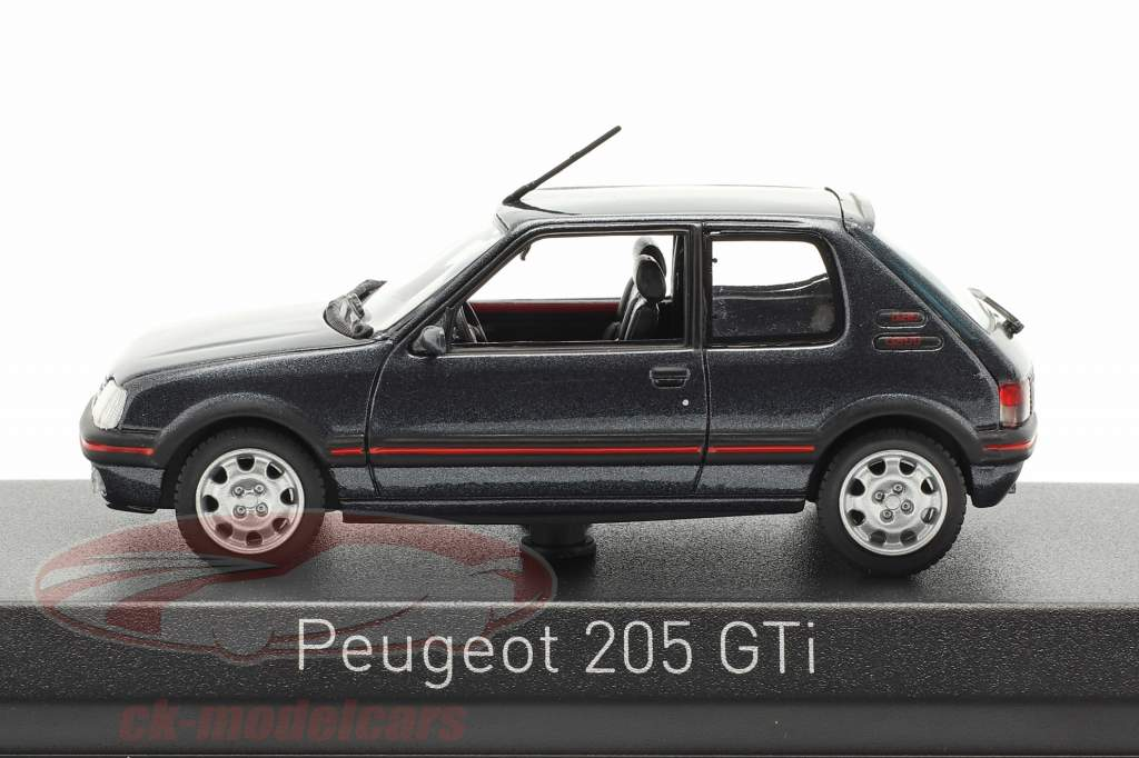 Peugeot 205 GTi 1,9 Bouwjaar 1992 donkergrijs metalen 1:43 Norev