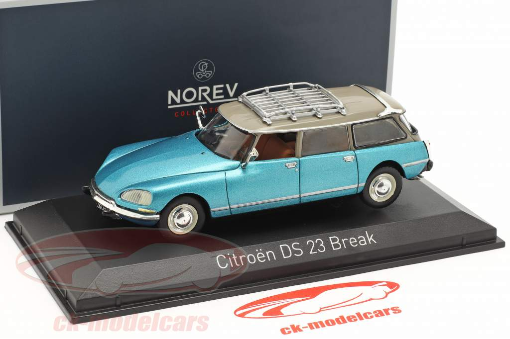 Citroen DS 23 Break año de construcción 1974 delta azul metálico 1:43 Norev