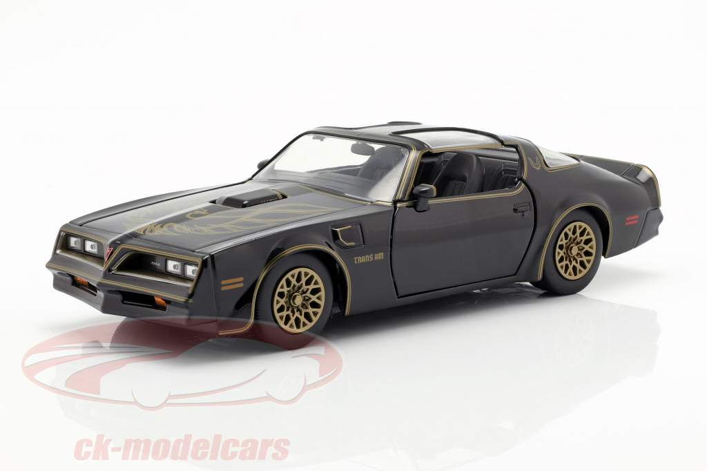 Pontiac Firebird 1977 película Smokey and the Bandit (1977) negro 1:24 Jada Toys