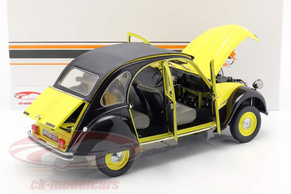 Citroen 2CV Charleston year 1982 yellow / black 1:8 Premium X