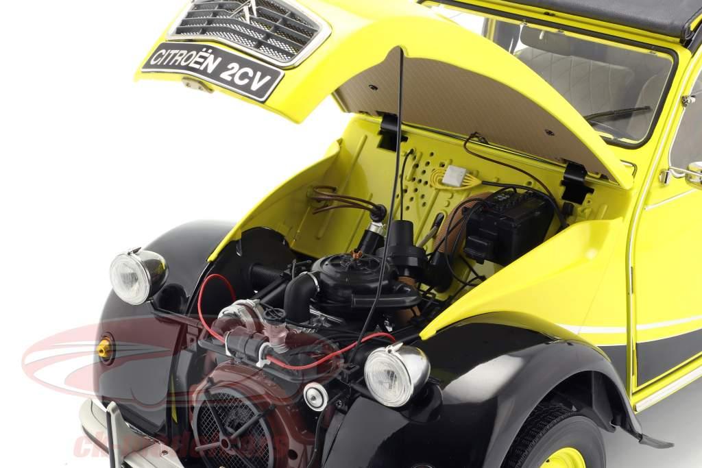 Citroen 2CV Charleston Bouwjaar 1982 geel / zwart 1:8 Premium X