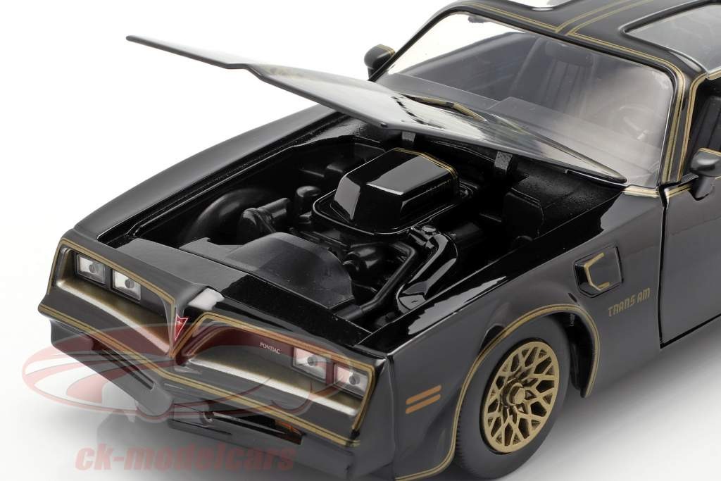 Pontiac Firebird 1977 filme Smokey and the Bandit (1977) preto 1:24 Jada Toys